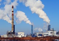 Power plant in Riga royalty free stock images