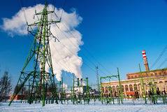 Power plant  in Riga Stock Image