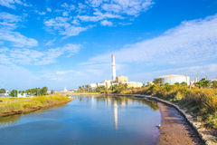 Power Plant by the River Royalty Free Stock Photo