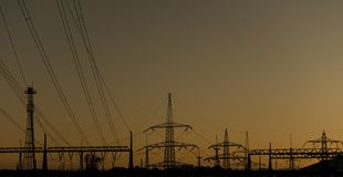 Power Plant Silhouette royalty free stock photo