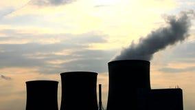 A Power plant with sky - Kraftwerk stock video footage
