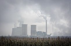 Power plant smog Royalty Free Stock Image