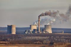 Power Plant Smoke Stock Photography