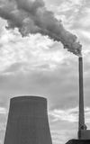 Power plant smoke pollution Royalty Free Stock Image