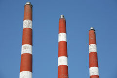 Power Plant Smoke Stacks Stock Images