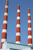 Power Plant Smoke Stacks Royalty Free Stock Photography