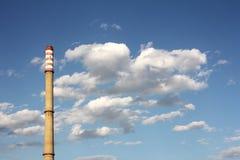 Power plant smokestack Royalty Free Stock Photo