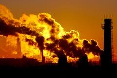 Power Plant Smokestacks Royalty Free Stock Image