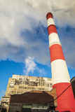 Power plant smokestacks Royalty Free Stock Image