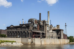 Power Plant. A power plant in St. Louis Missouri Royalty Free Stock Images