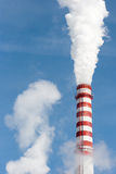 Power plant stack closeup Stock Photos