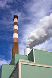 Power Plant Stack and Smoke Royalty Free Stock Photography