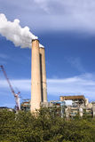 Power Plant Stacks. With smoke and equipment Royalty Free Stock Photo