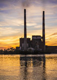 Power Plant Stacks Stock Photography