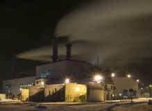 The power plant (station). Royalty Free Stock Photography