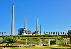 Power Plant Station in Israel Stock Photos