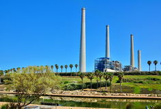 Power Plant Station in Israel Royalty Free Stock Photography