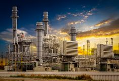Power plant station Royalty Free Stock Photography