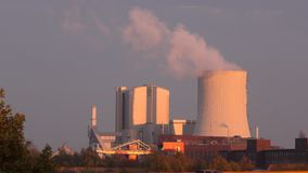 Power plant in Hannover. Power plant Stoecken in Hannover. Germany stock footage
