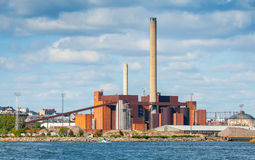 Power Plant in a summer day, Helsinki, Finland Royalty Free Stock Image