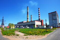 Power plant in a sunny day Stock Photography