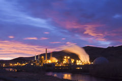Power Plant Sunrise Stock Photo