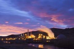 Power Plant Sunrise Stock Photo