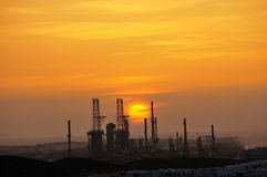 Power Plant at Sunset. Near the California Coastline Royalty Free Stock Images