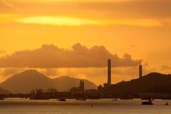 Power plant sunset Stock Photography