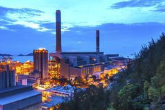 Power plant at sunset Stock Photography