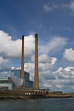 Power plant in Tarbert. Ireland stock images