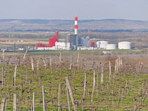 Power Plant in Theiss, Lower Austria. Theiss, AUSTRIA - 07 April 2015: The thermal power plant in Theiss, Lower Austria, is owned by the supplier EVN AG. It was Stock Image