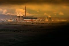 Power plant toxication Stock Photo