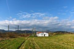 Power plant and tracks near Prunerov Stock Image