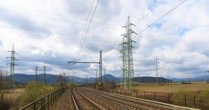 Power plant and tracks near Prunerov Stock Photography