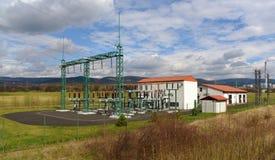 Power plant and tracks near Prunerov Royalty Free Stock Image