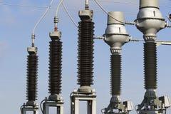 Power plant transformer station Stock Photo