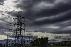 Power Plant Transmission Lines Stock Photos