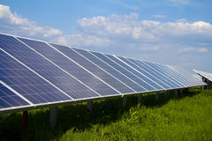 Power plant using renewable solar energy. Stock Image