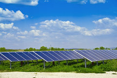 Power plant using renewable solar energy. Stock Photo