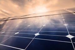 Power plant using renewable solar energy stock photos