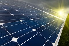 Power plant using renewable solar energy.  Royalty Free Stock Image