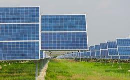 Power plant using renewable solar energy Stock Image