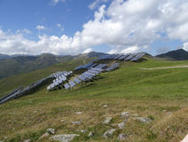 Power plant using renewable solar energy in Alp, Austria royalty free stock images