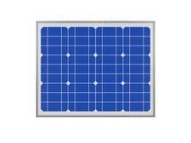 Power plant using renewable solar energy, 3d rendering vector illustration