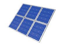 Power plant using renewable solar energy, 3d rendering Stock Photography