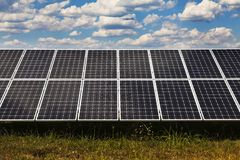 Power plant using renewable solar energy Stock Photography