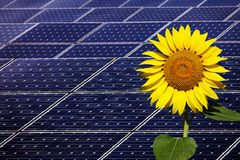 Power plant using renewable solar energy stock photography