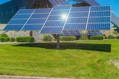 Power plant using renewable solar energy with sun stock photos