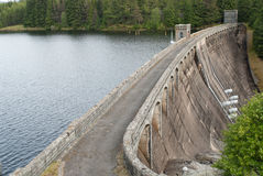 Power plant water reservoir. Power plant in Scotland royalty free stock photo